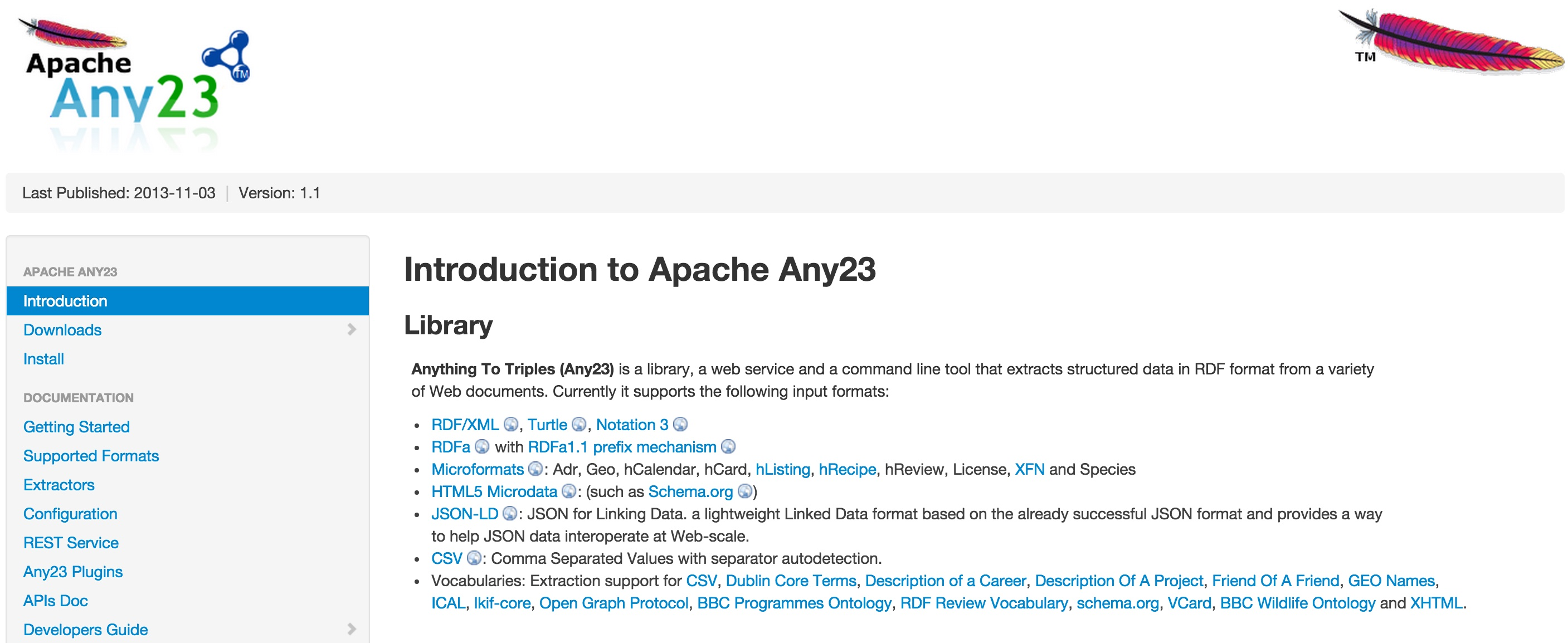 Apache Any23 Screenshot