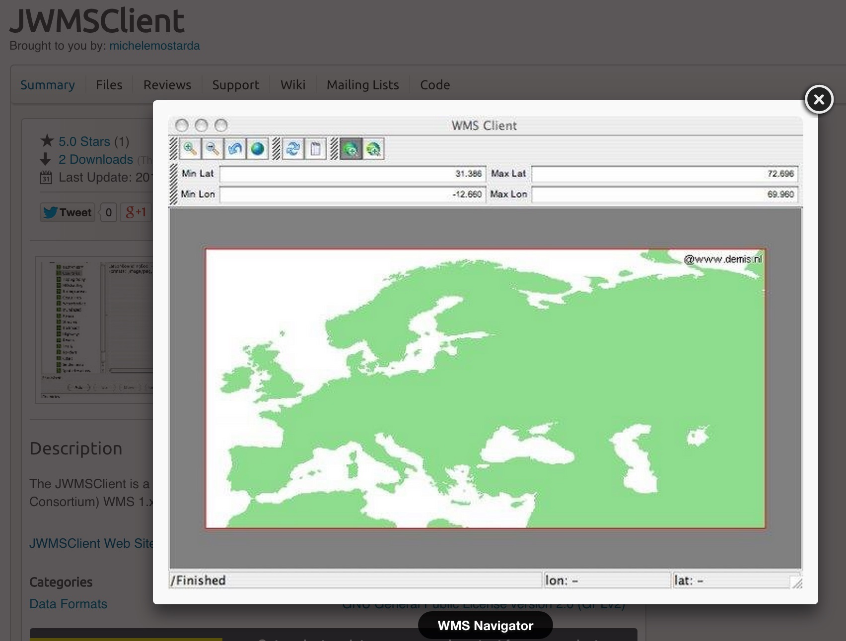 jWMS Client Screenshot