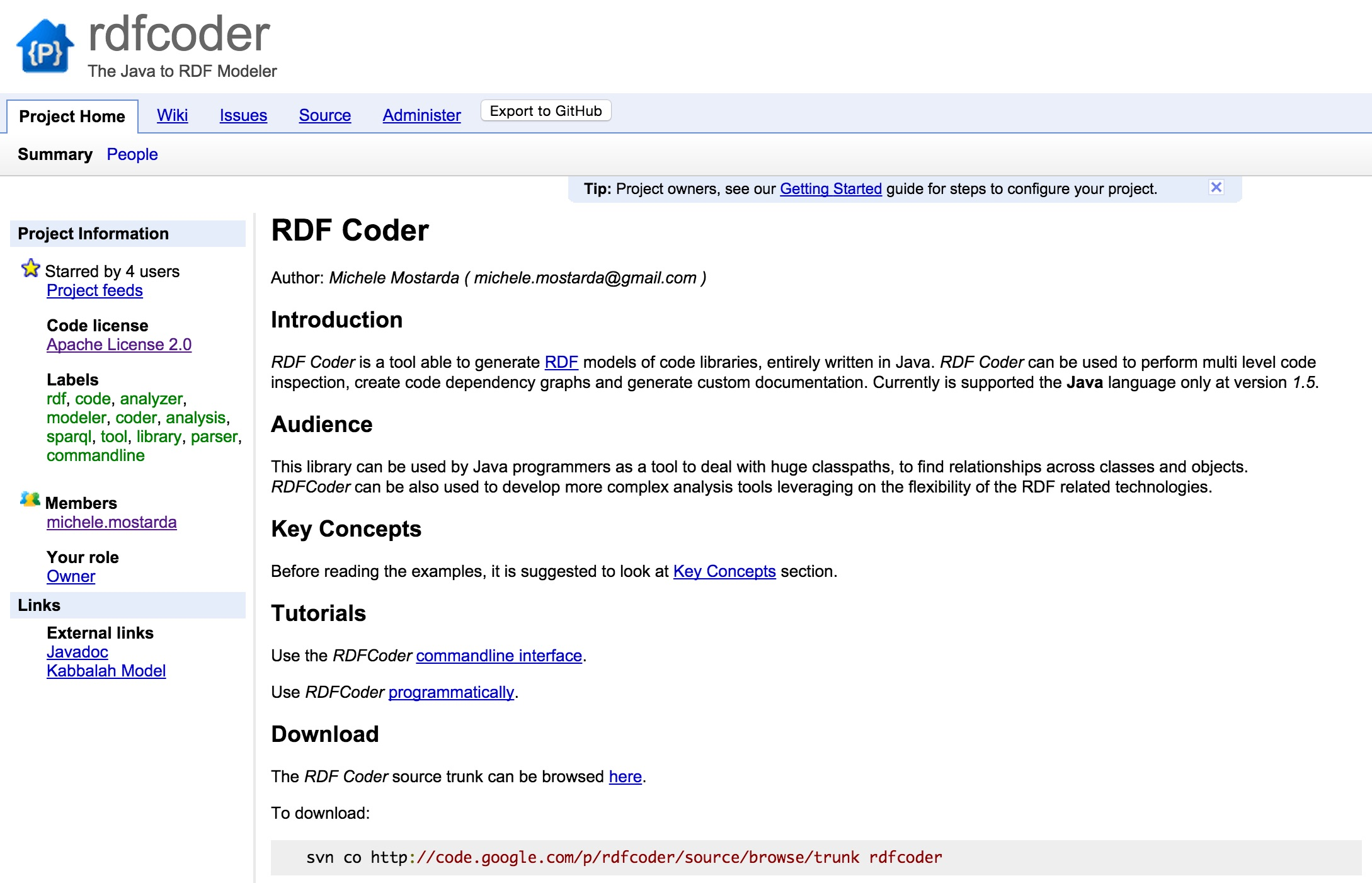 RDFCoder Screenshot